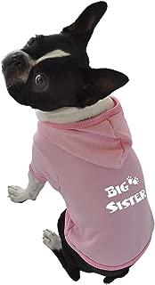 Ruff Ruff and Meow Dog Hoodie, Big Sister, Pink, Medium