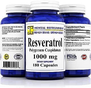 Premium 100% Pure Resveratrol - Heart Health, Weight Loss, Anti-Aging