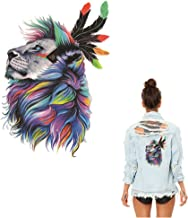 ESH7 Watercolor Lion Animal Ironing Stickers Patch Clothing Iron-on Heat Transfer DIY Decoration Appliqued Parches for Coat