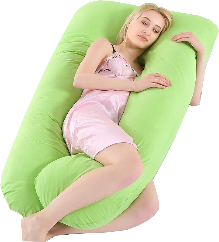 Pregnancy Pillow U-Shape Full Body Pillow Maternity Support for Back Neck Belly Leg Hips Pregnant Women Cushion - Green