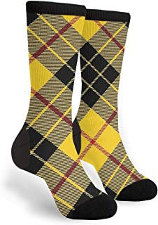 Scots Style Clan Macleod Of Lewis Tartan Plaid Men's And Women's For Running Flying Traveling Mid Calf Knee Crew Socks Cclothing Costume Dress