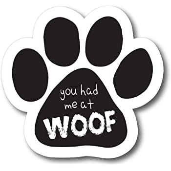2x7 Paw Print Auto Truck Decal Magnet P-30 Magnet Me Up Cat Lover Pawprint Car Magnet