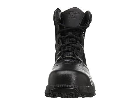 Bates Negro Calzado Toe Comp Charge Zip Side rrw4Cvq