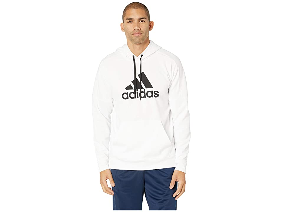 adidas Team Issue Fleece Pullover Hoodie (White) Men