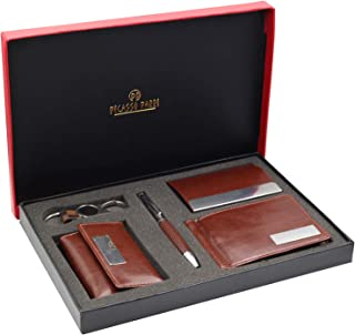 Picasso Parri 5in1 Customizable Premium Combo Pen Gift Set with Pen, Keychain, Key Holder, Money Clip Wallet & Card Case. ...