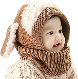 Unisex Baby Toddle Kids Winter Hat Scarf Earflap Hood Scarves Skull Caps