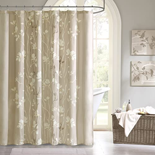 Madison Park Vaughn Shower Curtain Taupe 72x72