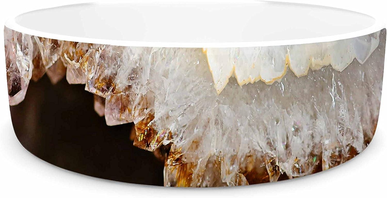 KESS InHouse Sylvia Cook bluee & Brown Quartz  Nature Photography Pet Bowl, 7
