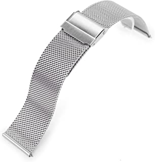 20mm Quick Release Classic Superfine Mesh Milanese Watch Band Brushed