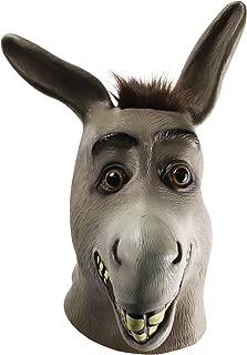 molezu Donkey Mask,Halloween Novelty Deluxe Costume Party Cosplay Latex Animal Head Mask Adult Gray