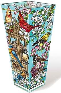 Amia 42596 Songbird and Cardinal Glass Vase, 9