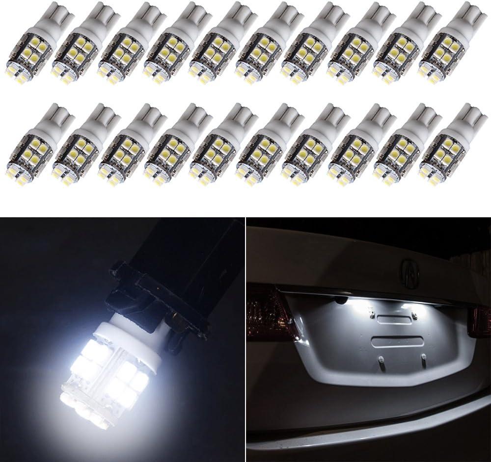 License Plate Lights cciyu T10 194 Austin Mall New popularity Side Bulb 20-SMD Light 168 We