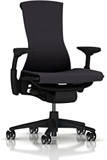 Herman Miller Embody Ergonomic Office Chair | Fully Adjustable Arms and Translucent Casters | Carbon Balance