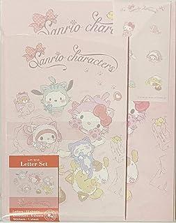 مجموعة حروف Sanrio مكونة من 12 ورقة كتابة + 6 مظاريف + 7 ملصقات ثابتة يابانية (قطة صغيرة 2)