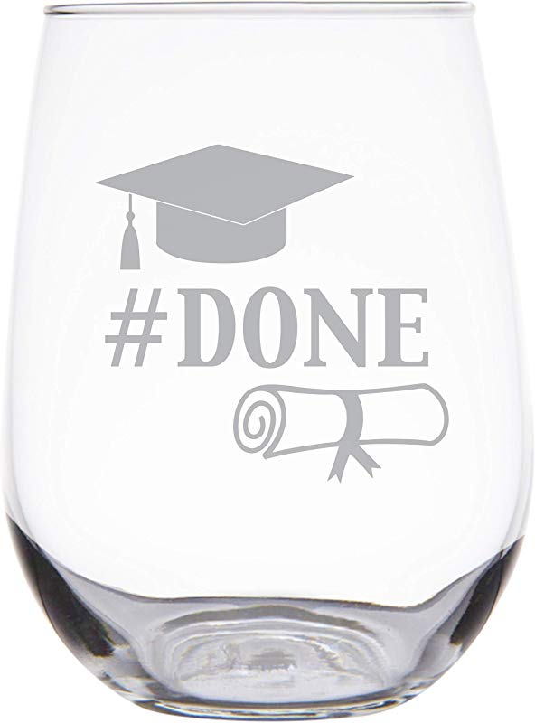 Engraved Graduation Party Stemless Wine Glass College Graduation Gifts Gift For Graduates Grad Gifts Done SG33