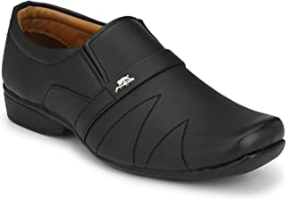 Stylelure Men's Leather Black Formal Shoes for Men