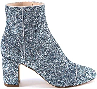POLLY PLUME Luxury Fashion Womens ALLYSPARKLINGBABYBLUE Light Blue Ankle Boots |