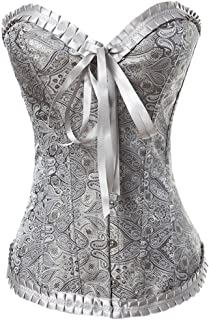 9fe7fbad57 Y Fashion Womens Vintage Brocade Lace Boned Renaissance Corset