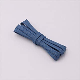 FDBHA Shoelace Runners Woven Belt Sports Safety Shoelaces Shoelaces for Running Shoes (Color : 3351 Sea Blue, Size : 150cm)