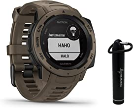 Garmin Instinct Tactical Edition GPS Watch and Wearable4U 2200 mAh Power Bank Bundle..