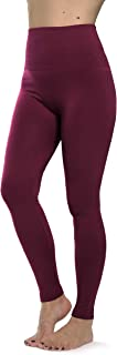 Prolific Health Women's Leggings High Waist Fleece Lined Premium Buttery Ultra Soft Solid Slimming French Terry