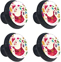 4 stks Kabinet Knoppen Lade Dressoir Handvatten Leuke Cartoon Kerst Kerstman voor Kamer, Keuken, Kantoor en Badkamer