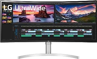LG 38WN95C 38 Inch UWQHD+ Curved Nano IPS Monitor, 1ms (GTG), Thunderbolt, HDMI, Speaker, HDR 10, Radeon FreeSync, Black S...