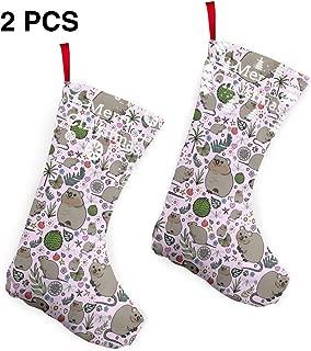 KKK81 Quokka Party Christmas Stockings Christmas Tree Decorations Bags Christmas Stockings 2 Pcs Set 12