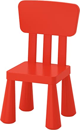 IKEA Mammut 403 653 66 High Back Plastic Children s Chair Suitable for Indoor and Outdoor Use Colour Red
