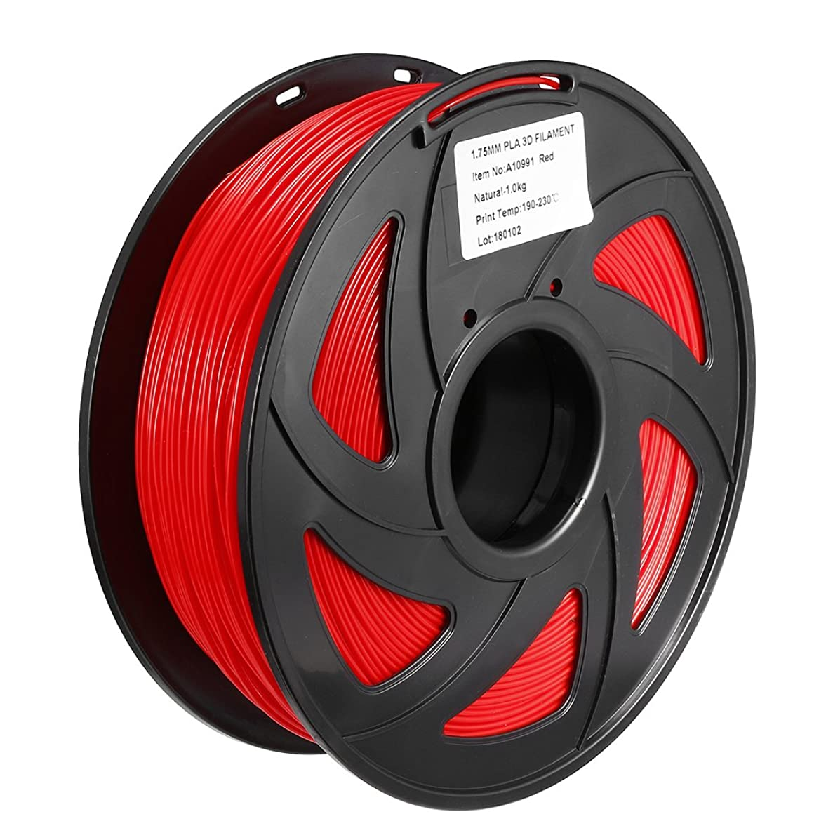 uxcell 3D Printer Pen Filament Refills, 2.2lbs(1kg), 1.75 mm Dia, PLA, Dimensional Accuracy +/- 0.02mm, for 3D Painting and Drawing,Red