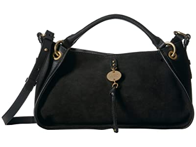 See by Chloe Luce Suede Tote (Black) Handbags