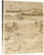 Global Gallery Budget GCS-454971-1824-142 Vincent Van Gogh Arles: View from The Wheatfields Gallery Wrap Giclee on Canvas Wall Art Print
