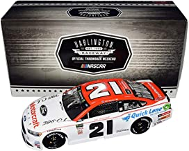 AUTOGRAPHED 2018 Paul Menard #21 Motorcraft Team DARLINGTON THROWBACK CAR (Wood Brothers Racing) Monster Cup Series Signed Lionel 1/24 Scale NASCAR Diecast Car with COA (#105 of only 217 produced)