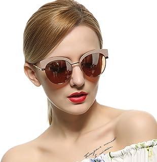 VIVIENFANG サングラス 偏光レンズ ミラー ファッション メタルフレーム 紫外線カット UVカット レディース J86697