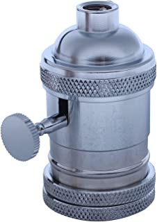 Andifany E27 ES Vintage Retro Edison Screw Bulb Socket Portalampada con interruttore Chrome
