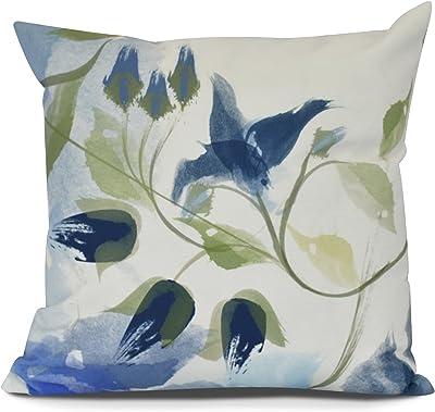 Green E by design Decorative Pillow Navy Blue