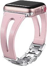Secbolt 38mm/40mm Leather Bands Compatible Apple Watch Band Series 4 & 5 40mm, Series 3/2/1 38mm, Handmade Vintage Leather Bracelet