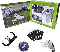 Golfer's Best Golf Gift Set: Tool - Stroke Counter, Divot Tool Repair, Brush, Ball Marker, Tee Holder, Belt Ball Holder - ...