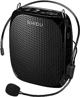 Amplificador de voz 10W Recargable altavoz más fuerte Amplificador 1800mAh, pretina portátil Amplificador de micrófono con cable para el profesor Coach actividad al aire libre