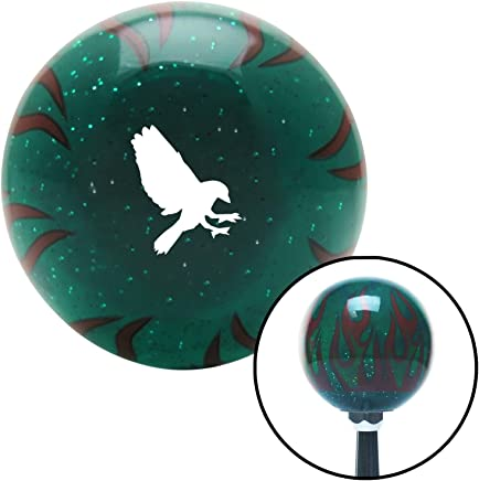 White Crow Clear Flame Metal Flake with M16 x 1.5 Insert American Shifter 295160 Shift Knob