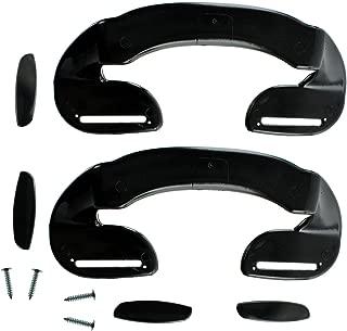Spares2go Door Handle For Grundig Fridge Freezer (190Mm, Black, Pack Of 2)