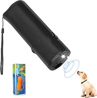 MakBea Anti Barking Stop Bark Handheld 3 in 1 Pet LED Ultrasonic Dog Repeller and Trainer Device - Training Tool/Stop Barking [Yellow]