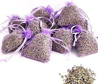 OLILLY Récolte 2020-12 Sachets Violets avec Lavande de Provence - 120 grammes de Lavande Naturelle (Violet, 12 Sachets)