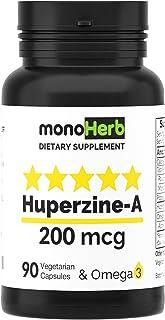 Huperzine-A 200mcg, 90 Capsules with Omega 3, 400mcg 45 Servings
