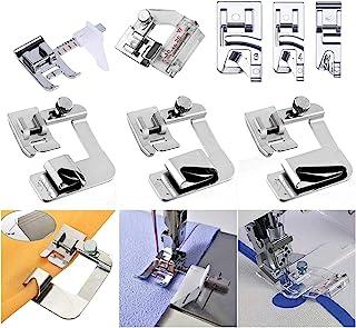 Windman Sewing Hemming Set Includes 3Pcs Wide Hem Foot,3Pcs Narrow Rolled Hem Presser..