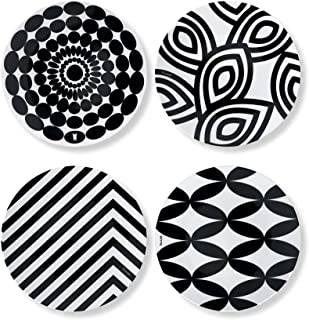 French Bull Assorted Plates - 4 Piece Set - 9 inch Melamine Salad Plates Set of 4 - Melamine Dinnerware for Indoor and Out...