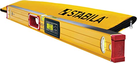 Stabila 36548 Type 196-2 Tech 48-Inch Digital Level IP65 Dust and Waterproof with Nylon Carrying Case - Made in Germany