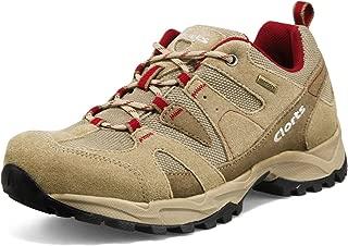 Clorts Women's Hiking Shoe Waterproof Suede Leather Lightweight Trekking Trail Sneaker