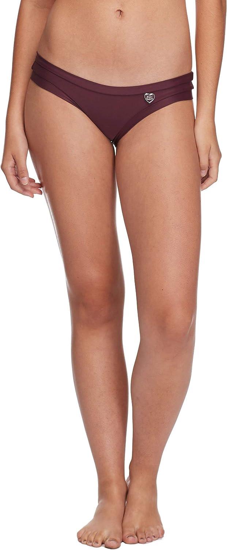 Body Glove Women's Standard Smoothies Audrey Solid Low Rise Bikini Bottom Swimsuit