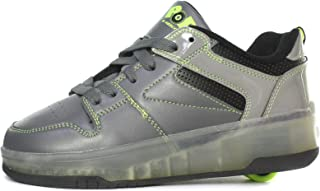 Heelys Pop Push Lighted Junior Roller Skate Shoes/Sneakers Grey